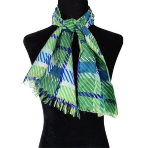 🍒3/$20🍒 Small Green & Blue Neck Scarf